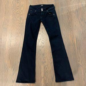 Hudson signature indigo pants distressed